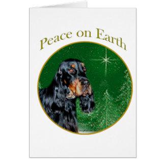 Gordon Setter Peace Card