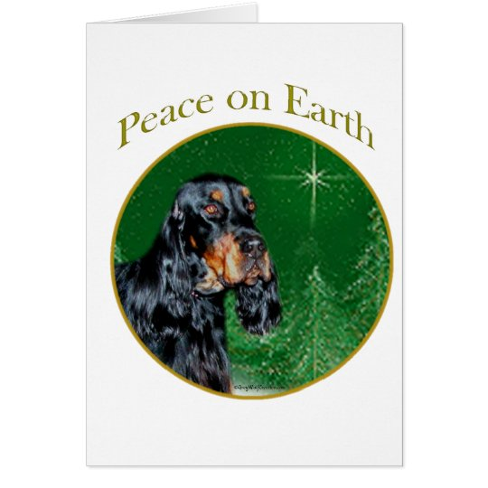 Gordon Setter Peace Card