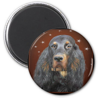 Gordon Setter Portrait gifts 6 Cm Round Magnet