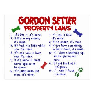 GORDON SETTER Property Laws 2 Postcards