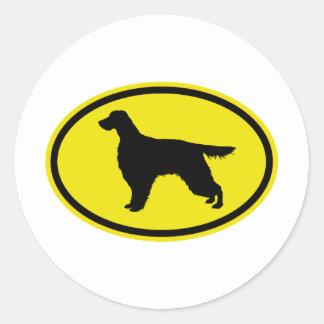 Gordon Setter Round Sticker