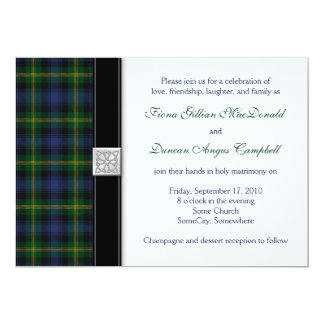 Gordon Tartan Wedding Invitation