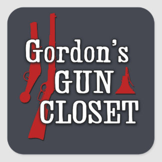 Gordon's Gun Closet sticker
