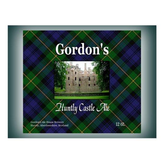 Gordon's Huntly Castle Ale Postcard