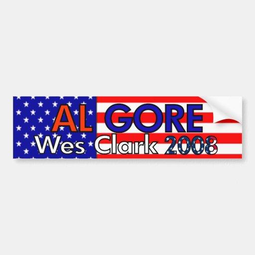 Gore/Clark 2008 Bumper Stickers