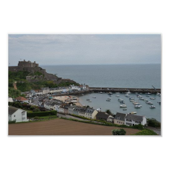 Gorey Harbour and Pier Poster