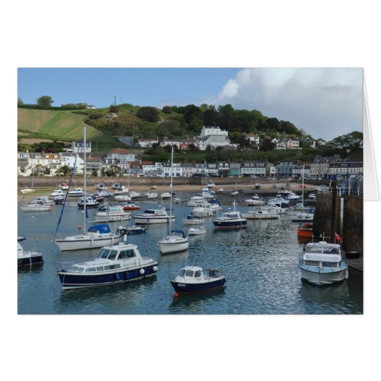 Gorey Harbour Boats Greeting Card
