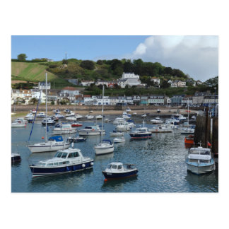 Gorey Harbour Boats Postcard