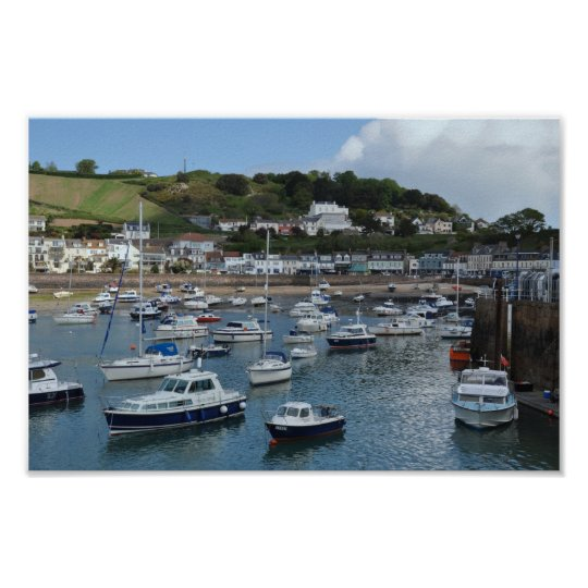 Gorey Harbour Boats Poster