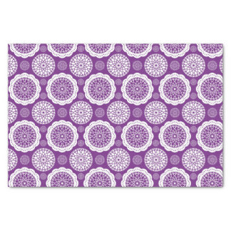 Gorgeous Abstract Floral Medallion - Dark Purple Tissue Paper