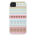 Gorgeous Abstract Floral Stripes iPhone 4 Case-Mate Case