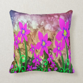 Gorgeous Abstract Flower Throw Pillow