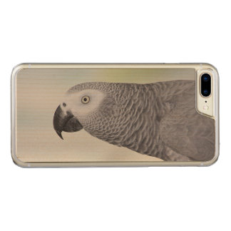 Gorgeous African Grey Parrot Carved iPhone 8 Plus/7 Plus Case