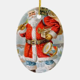 Gorgeous American Patriotic Christmas Santa Christmas Ornament