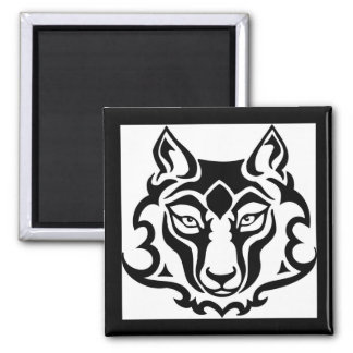 Gorgeous and Wild Wolf Square Magnet