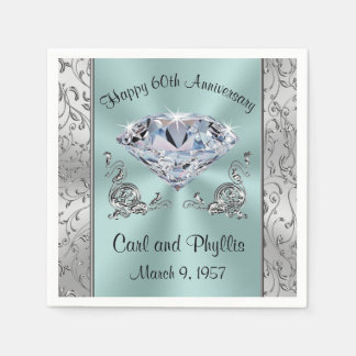 Gorgeous Any Year and Colors Anniversary Napkins Paper Napkin
