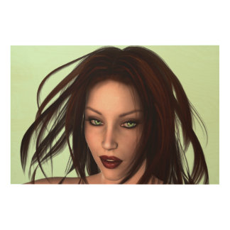 Gorgeous Auburn Haired Beauty Wood Print
