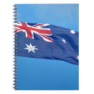 GORGEOUS AUSTRALIAN FLAG NOTEBOOK