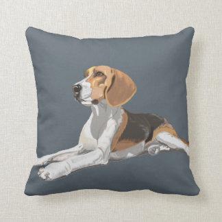 Gorgeous Beagle Sitting Down Cushion