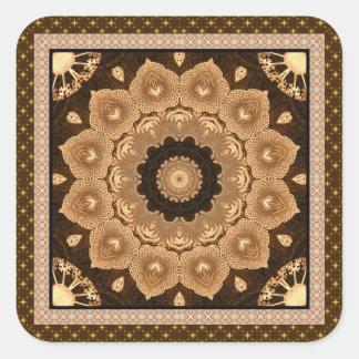 Gorgeous Beige Mandala Square Sticker