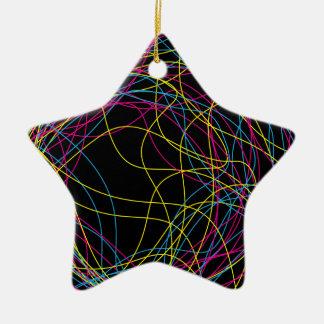 Gorgeous black ceramic star ceramic star decoration