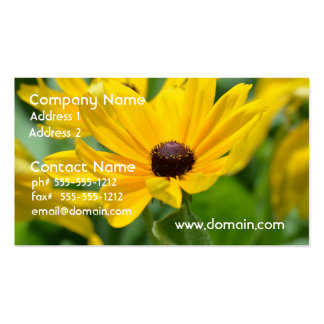Gorgeous Black Eyed Susan Business Card Templates