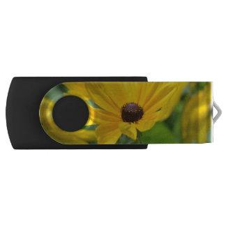 Gorgeous Black Eyed Susan Swivel USB 2.0 Flash Drive
