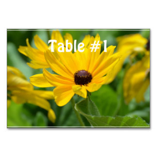 Gorgeous Black Eyed Susan Table Cards
