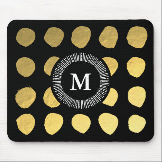 Gorgeous Black Gold Mousepad for Your Office