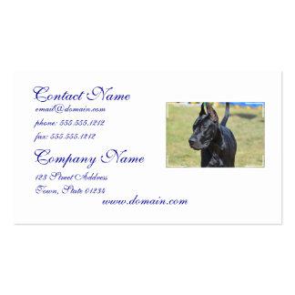 Gorgeous Black Great Dane Business Card Templates