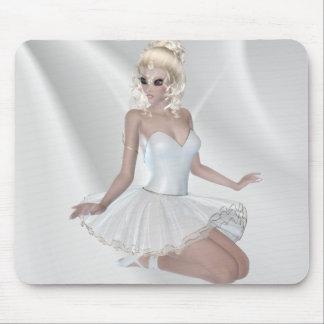 Gorgeous Blond Ballerina in White Dress Mousepads