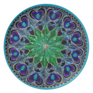 Gorgeous Blue and Green Glass Illusion Plate