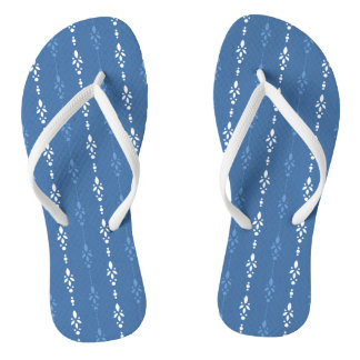 Gorgeous blue and white flip flops