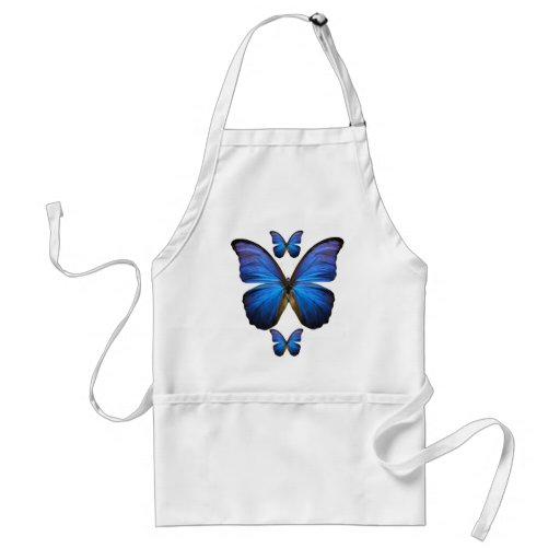 Gorgeous Blue Morpho Butterfly Apron