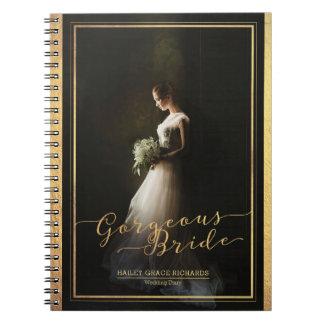 Gorgeous Bride Elegant Typography Photo Template Spiral Notebook