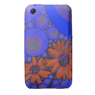 Gorgeous Bright Blue Orange Sunflowers iPhone 3 Covers