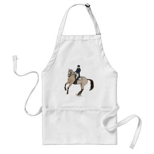 Gorgeous Buckskin Dressage Horse Art Aprons