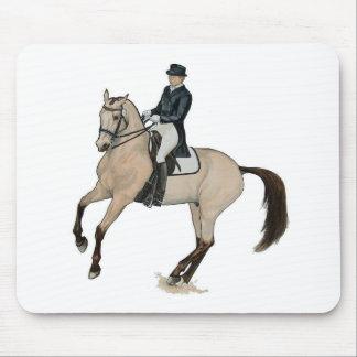 Gorgeous Buckskin Dressage Horse Art Mouse Pad