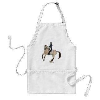 Gorgeous Buckskin Dressage Horse Art Standard Apron