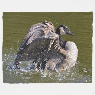 Gorgeous Canada Goose Strutting Its Stuff Fleece Blanket