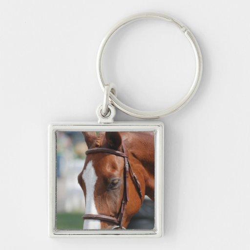 Gorgeous Chestnut Show Horse Key Chain