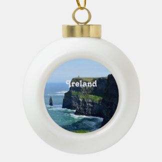 Gorgeous Cliffs of Moher Ceramic Ball Christmas Ornament