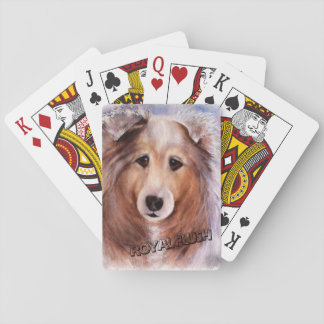 GORGEOUS COLLIE PLAYING CARDS