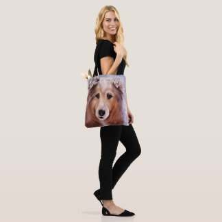 GORGEOUS COLLIE TOTE BAG