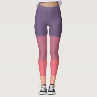 Gorgeous colour panel Leggings Purple, pink, peach