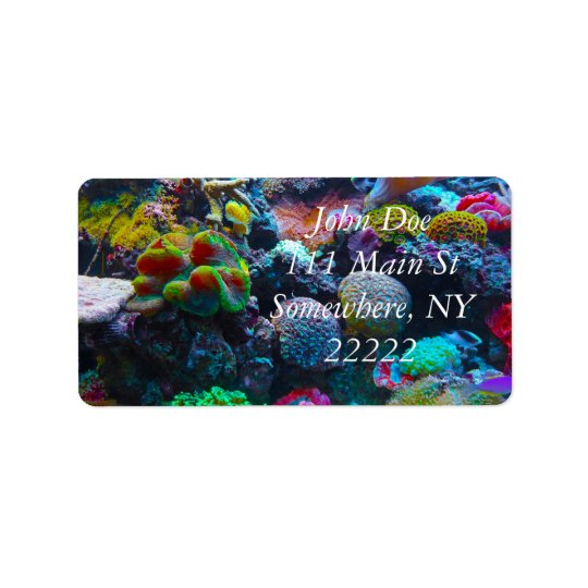 Gorgeous Coral Reef Address Label