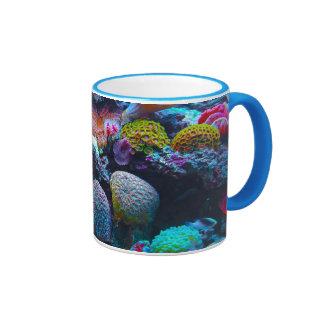 Gorgeous Coral Reef Ringer Mug
