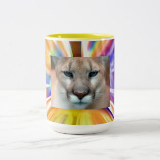 GORGEOUS COUGAR Two-Tone COFFEE MUG