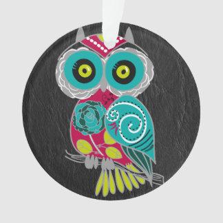 Gorgeous Custom Owl on Black Leather Gift