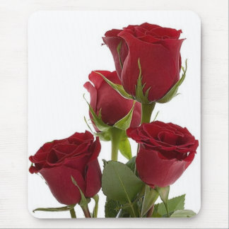Gorgeous Dark Red Rose Design Mouse Pad